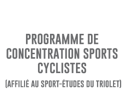 Programme de concentration SPORTS CYCLISTES